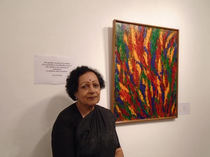 Kusum Shukla with the exhibition Signature Painting