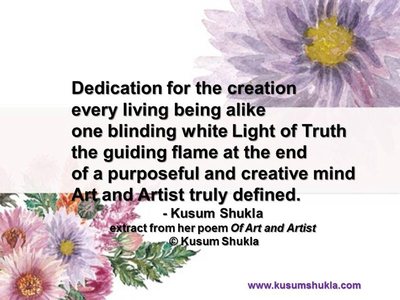 Of art and artist poem - Kusum Shukla