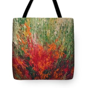 kusum shukla's art on a tote bag