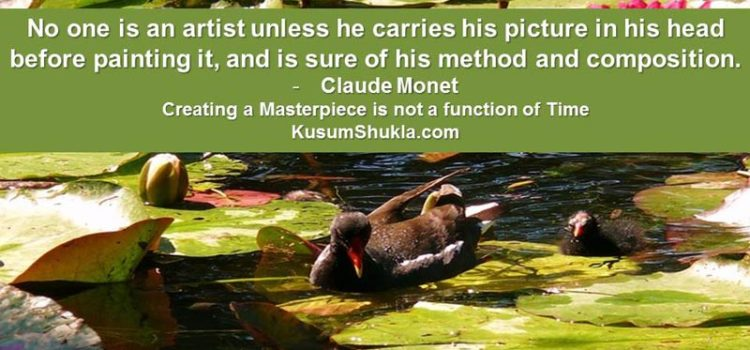 Monet quote on art
