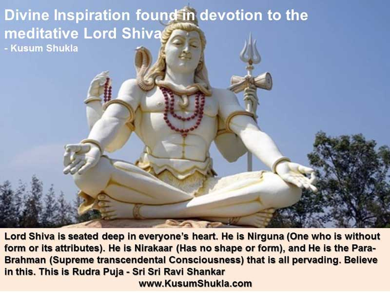 Statue of Meditative Lord Shiva