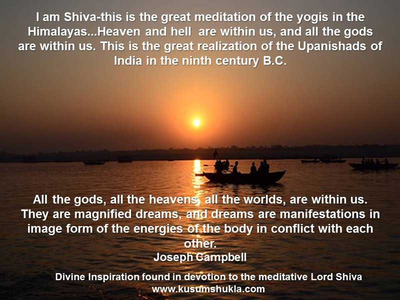 Joseph Campbell quote on Shiva