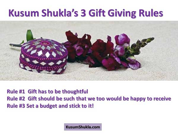 Kusum Shukla;s Gift Giving Rules