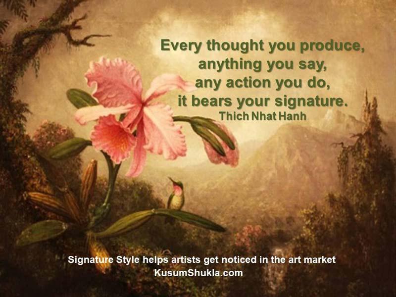Signature style quote