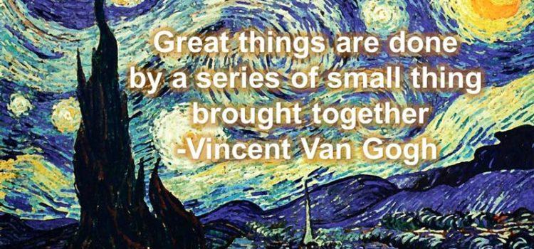 Vincent Van Gogh quote on Creative Rut
